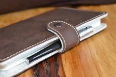 Moleskine Organic Leather/Felt Sleeve/Cover  TICKLER JACKET  http://etsy.me/1tb6hHT  #NotebookCover #Moleskine #MoleskineCover #Tickler
