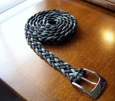6 strand flat braid paracord belt. such an amazing idea. would take a while but still amazing :)