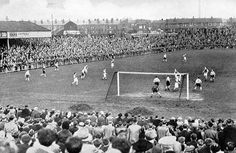 Wigan Athletic take on Grimsby Town in 1950 at Springfield Park Wigan Athletic, British Football, Football Casuals, Those Were The Days, Football Stadiums, Vintage Football, Home Art, Past, Dolores Park