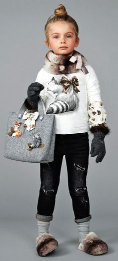 ALALOSHA: VOGUE ENFANTS: Must Have of the Day FW'17: A pretty & very cute forest animals by Monnalisa have plenty of charm that little girls will adore