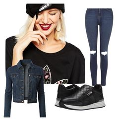 """Match it"" by ulfa-mulyantika on Polyvore featuring Topshop, adidas, Steve Madden and LE3NO"