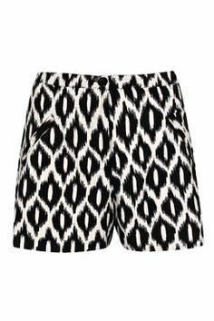 Anna Mono Ikat Print Flippy Shorts