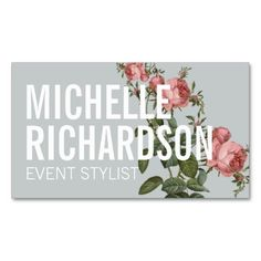 Wedding Event Planner Business Card Elegant Floral  Floral