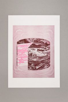 Gelatology 003 Geocake / A3 Risograph Print by StudioFludd