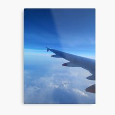 For the travel lover, a photo of a plane in the sky on the way to the next adventure. • Millions of unique designs by independent artists. Find your thing. Airplane View, Sky, Artists, Explore, Adventure, Metal, Unique, Travel, Design