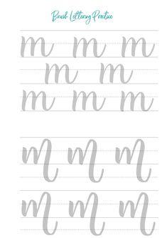 Lettering Worksheets, modern calligraphy Worksheets, Brush Calligraphy Printable brush calligraphy and hand lettering worksheetsbrush calligraphy and hand lettering worksheets Brush Lettering Worksheet, Calligraphy Worksheet, Lettering Guide, Hand Lettering Practice, Hand Lettering Alphabet, Calligraphy Letters, Modern Calligraphy, Learn Handwriting, Handwriting Worksheets
