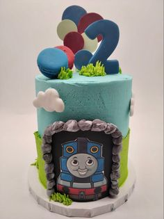 Popular Kids Shows, Thomas The Train, Birthday Cake, Cakes, Desserts, Food, Tailgate Desserts, Birthday Cakes, Deserts