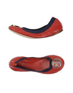 TORY BURCH Ballet flats with contrasting trim