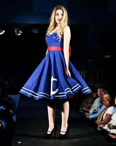 Hey, I found this really awesome Etsy listing at https://www.etsy.com/listing/64299367/blue-anchor-50s-dress-cirlce-skirt
