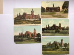 Antique-POSTCARDS-Holy-Cross-College-WORCESTER-MA-MASS-Lot-of-5-1908-12