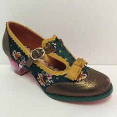 Womens Poetic Licence Velveteen Bronze Wedge Heel Shoes Size