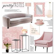 """""""Pastel Home Decor"""" by helenevlacho ❤ liked on Polyvore featuring interior, interiors, interior design, home, home decor, interior decorating, Catalina, National Tree Company, Royal Albert and Home"""