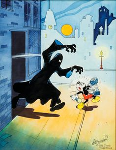 Floyd Gottfredson Mickey Mouse Outwits the Phantom Blot Painting | Lot #92079 | Heritage Auctions