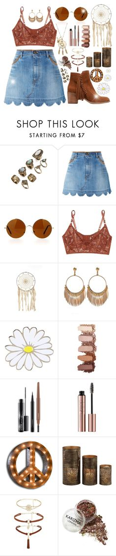 """""""Inner Boho"""" by tegan-nottle ❤ liked on Polyvore featuring RED Valentino, Revo, Lonely, Topshop, MAC Cosmetics, Vintage Marquee Lights, Home Decorators Collection and Kenneth Cole Reaction"""