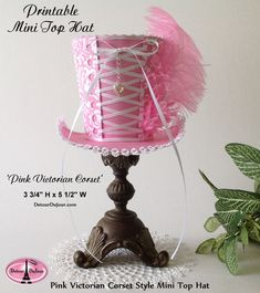 aaartz Pink Mini Top Hat Tea Party Top Hat Mini by DetourDuJour