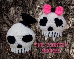 Crochet Skull Hat Boy or Girl