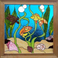 Bill's Ocean by Anne's Stained Glass - Delphi Artist Gallery