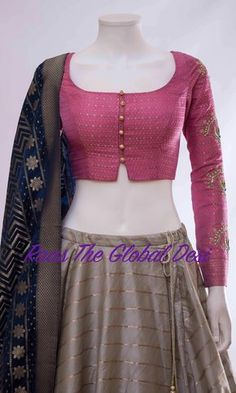 Raas The Global Desi lehenga Indian dress chaniya choli gown saree Choli Designs, Saree Blouse Neck Designs, Fancy Blouse Designs, Saree Blouse Patterns, Blouse Designs Wedding, Latest Saree Blouse Designs, Lehenga Choli, Blouse Lehenga, Sari Design