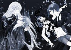 Kuroshitsuji | Undertaker & Vincent Phantomhive & Ciel Phantomhive & Sebastian Michaelis |