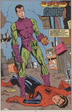 Harry Osborn & Peter Parker Spectacular Spider-Man : The Child Within Marvel Comics, Hq Marvel, Marvel Heroes, Comic Book Pages, Comic Books, Green Goblin Harry Osborn, Stan Lee Spiderman, X Men, Hawkeye Comic