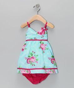 Penelope Mack Blue Rose Dress & Diaper Cover by lolibears.com for $19.48