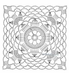 Best 12 How to Crochet a Solid Granny Square Crochet Motif Patterns, Granny Square Crochet Pattern, Crochet Blocks, Crochet Diagram, Square Patterns, Crochet Chart, Crochet Squares, Crochet Granny, Crochet Designs