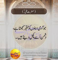 Hazrat Ali Sayings, Imam Ali Quotes, Hadith Quotes, Urdu Quotes, Inspirational Quotes In Urdu, Motivational Quotes For Success, Belief Quotes, Wisdom Quotes, Badass Quotes