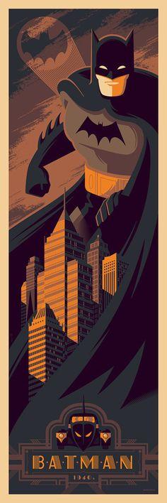 Tom Whalen - Pulp Menagerie Batman 1940s