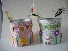 Artesanais & Cia: Latas decoradas, Nescau, leite, etc...