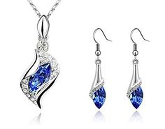 New 2016 Crystal Silver Necklace Earring Jewelry Sets Leaf Crystal Pendant Water Drop Earring Gift For Wedding Women (Purple) Unbranded http://www.amazon.com/dp/B01DI3CV6Q/ref=cm_sw_r_pi_dp_8J.9wb1G7V8Z8