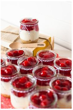 mason jar deserts | in style. Brightly colored desserts work wonderfully with a mason jar ...