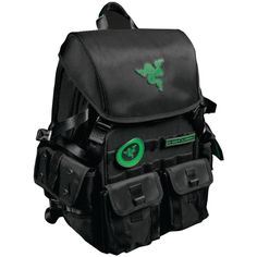 MOBILE EDGE RAZERBP17 17.3 Razer Tactical Backpack. Fits notebooks with up to 17.3 screen;  Made from robust 1680D ballistic nylon;  Tear- & water-resistant exterior;  Scratchproof interior;  Soft padded shoulder straps & back panel;  Adjustable chest buckle ;  2 large interior compartments;  Interior 15 notebook divider & headphone holder;  Medium-sized front utility pocket with accessories organizer;  2 small modular front pockets;  2 small side pockets for easy access;  VELCRO(R)...