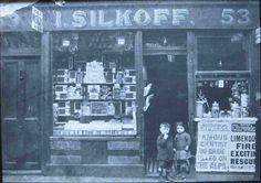 Isaac Silkoff, 53 Brick Lane, c 1911 Victorian London, Vintage London, Old London, Vintage Shops, East End London, Bethnal Green, London History, London Pictures, History Images