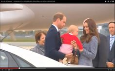 "Kate Middleton Prince William and Prince George say ""goodbye Australia"""