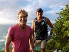 Environmental ace - Chris teams up with local naturalist and former island ranger Dean Hiscox, who runs LHI Environmental Tours.