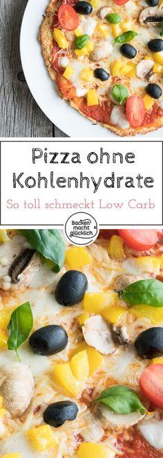 Mit diesem tollen Low Carb Pizzaboden-Rezept kann man Pizza auch ohne Kohlenhydrate genießen! Der glutenfreie Pizzaboden wird mit Mandelmehl gebacken.