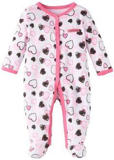 ME LOVE! Calvin Klein Baby-girls Newborn Stretchie Coverall Calvin Klein