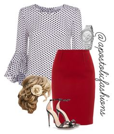 Apostolic Fashions #1733 by apostolicfashions on Polyvore featuring Milly, Paule Ka and Gucci