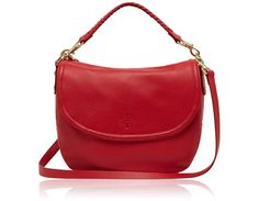 Mulberry - Effie Satchel in Bright Red Spongy Pebbled, Red Bag