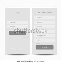 Afbeeldingsresultaat voor app form grey ui