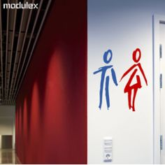 Restroom signs.  Toilet signs.  A little bit arty.