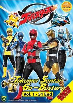 DVD Tokumei Sentai Go-Busters V.1-51End + Movie Box Set English Sub Region All