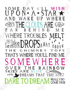 Favorite Song: Somewhere Over the Rainbow From The Wizard Of Oz. Song Quotes, Poetry Quotes, Words Quotes, Sayings, Over The Rainbow, Wizard Of Oz, Music Lyrics, Positive Thoughts, Positive Quotes