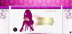Denise MFC Profile template pink, purple, gold, for camgirls, top models
