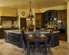 Great Kitchen Layouts | kitchen layout in this house is great