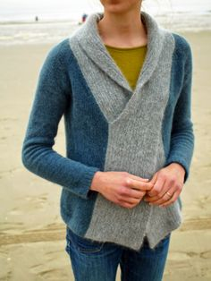 Knitting ispiration - Crossed sweater
