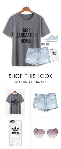 """""""Tonight I went to a football game at the school I'll be going to and omg! The guys there are extremely hot❤️❤️"""" by simplylovelyruru ❤ liked on Polyvore featuring Casetify, Roberto Cavalli and NIKE"""