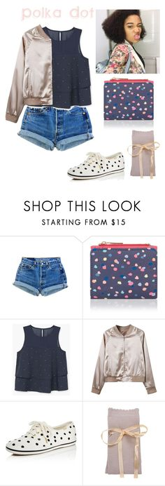 """Perky Polka Dot "" by sapphire-stone ❤ liked on Polyvore featuring Accessorize, MANGO, WithChic, Kate Spade, cute, colorful, polkadot and spots"