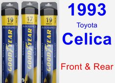 Front & Rear Wiper Blade Pack for 1993 Toyota Celica - Assurance