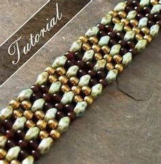 Beaded Bracelet Tutorial, RAW using Super Duos, Bead Pattern, Step by ...